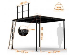 TS 8 Mezzanine with S ladder