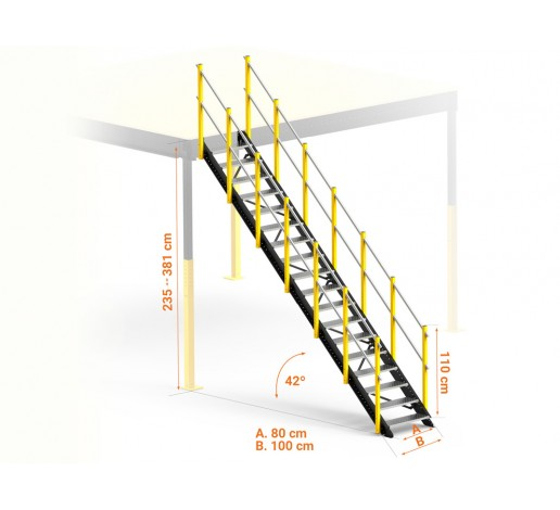 Escalera Recta Larga XL