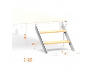 Truckle bed Straight Stairs