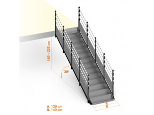 Public Access Stairs 30º