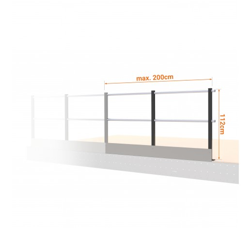 Security Railing with Plate extension